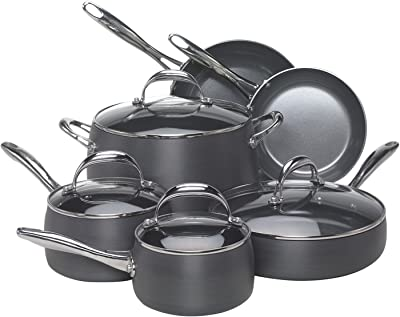 The Hard-anodized Aluminum 10 Piece Cookware Set