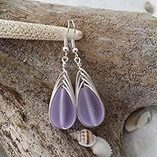 purple sea glass jewelry