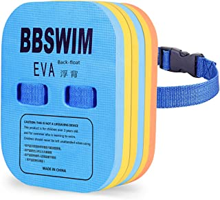 BBSWIM Back Float for Kids Children Safety Swim Bubble with Adjustable 3 Layers Swim Belts Comfortable Waterproof Floaties Device for Kids Toddler Swimming Floats (10lb-60lb)