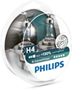 Philips 12342XV+S2 H4 X-Treme Vision +130%, Headlight Car Bulbs, Twin-Pack, White