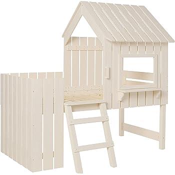 Donco Kids Cabana Loft Bed, Twin, Rustic Pearl