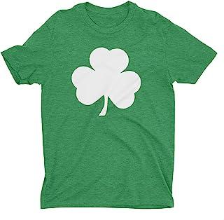 NYC FACTORY USA Screen Printed Green Irish Shamrock T-Shirt St Patricks Day Mens Ireland Tee Shirt