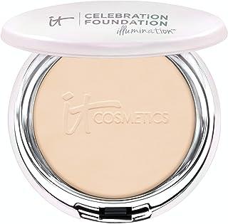 IT Cosmetics Celebration Foundation Illumination, Light (W) - Full-Coverage, Anti-Aging Powder Foundation - Blurs Pores, Wrinkles & Imperfections - 0.3 oz Compact