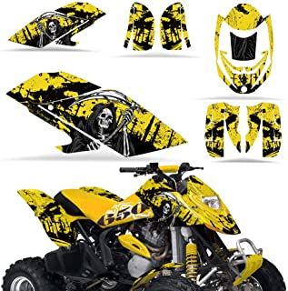 Wholesale Decals ATV Graphics kit Sticker Decal Compatible with Can-Am DS650 Bombardier - Reaper Yellow