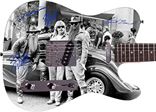 ZZ Top Autographed Signed Custom Graphics Guitar