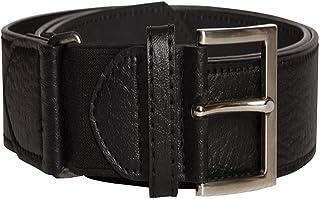 Mens Duke D555 Extender Kingsize Big Large Black Leather Style Belt