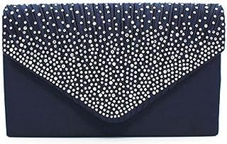 92e635fa7 Nodykka Women Evening Envelope Handbag Party Bridal Clutch Purse Shoulder  Cross Body Bag