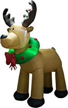 AJY 8-Feet Christmas Inflatable Reindeer Holiday Lighted Blow-up Yard Decoration