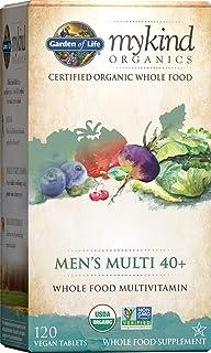 Garden of Life mykind Organics Whole Food Multivitamin for Men 40+ 120 Tablets, Vegan Mens Multi...