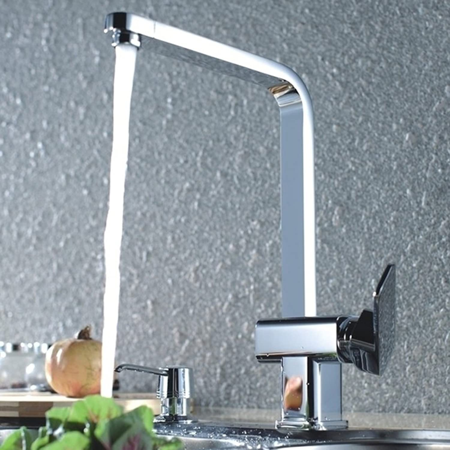 redating Kitchen Faucet Vegetables Basin Faucet Double Sink Faucet hot and Cold redary Motion-B