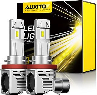 AUXITO H11 H8 H9 LED Headlight Bulbs 12000lm Per Set 6500K Cool White Wireless Headlight LED Bulb, Pack of 2