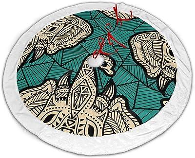 Myrdora Falda Colorida del /árbol de Navidad de la Estrella jud/ía Adornos de la Falda del /árbol de Felpa para Decoraciones de Fiestas y Fiestas navide/ñas