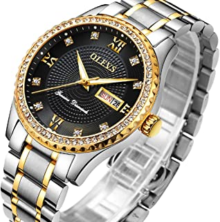 Amazons top hot-Selling Watch,Gold Watch for Men,Stainless Steel Quartz Watches