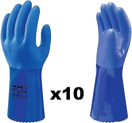 Showa Gants Sho377-l N /° 377/F//C taille: L Blanc//bleu//noir Gant en mousse