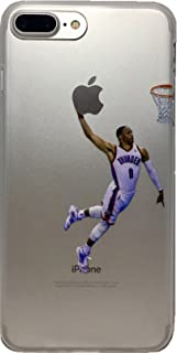Soft TPU Basketball Case with Your Favorite Past and Present Players (Westbrook, iPhone 7 Plus)