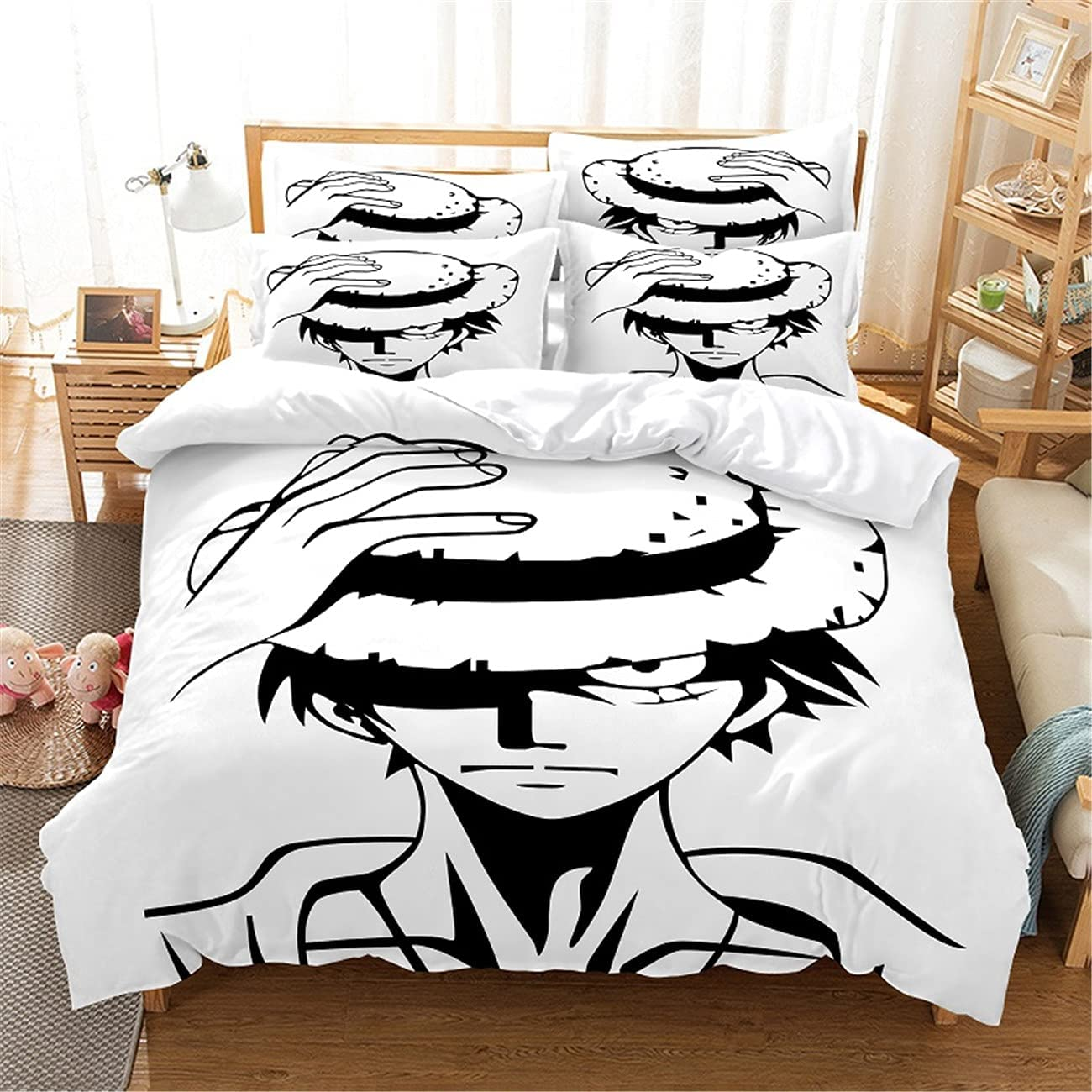 MANXI Seasonal Wrap Introduction safety Double Quilt Cover Home Decoration Bedding Bedroom Black