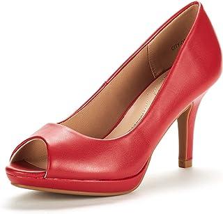 aa46462496 DREAM PAIRS Women's City_OT Fashion Stilettos Peep Toe Pumps Heels Shoes