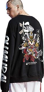 XYXIONGMAO Samurai Akita Inu Crew Neck Pullover Graphic Couple Street Sweater Oversized Hoodie Men's Japanese Hoodie