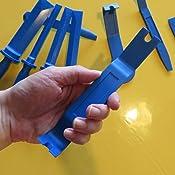 Cclife 9tlg Auto Zierleistenkeile Kunststoffschaber Set 19 22 25 38 Mm Klebegewichte Entferner Auto Demontage Werkzeuge Auto