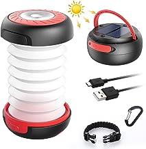 GlobaLink LED Campinglamp Solar Opvouwbare campinglamp Draagbare energiebank met 2 oplaadmethoden (zonne-energie / USB) en...