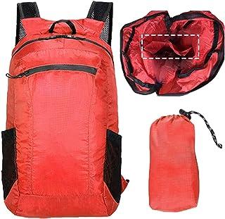 LUFFANN アウトドアバッグパック 大容量リュック 防水 軽量 大容量 防水リュック 折りたたみ式リュックサック バックパック 男女兼用 ショッピングバッグ エコバッグ エコリュック ショッピング機能付き 便利な仕切り付き