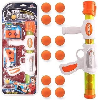 EXERCISE N PLAY Air Popper Gun Soft Foam Ball Gun Rapid Fire Atomic Power Pump Action Blaster Shooter Gun Foam Ball Battle Toy for Kids with 12 Soft Foam Balls