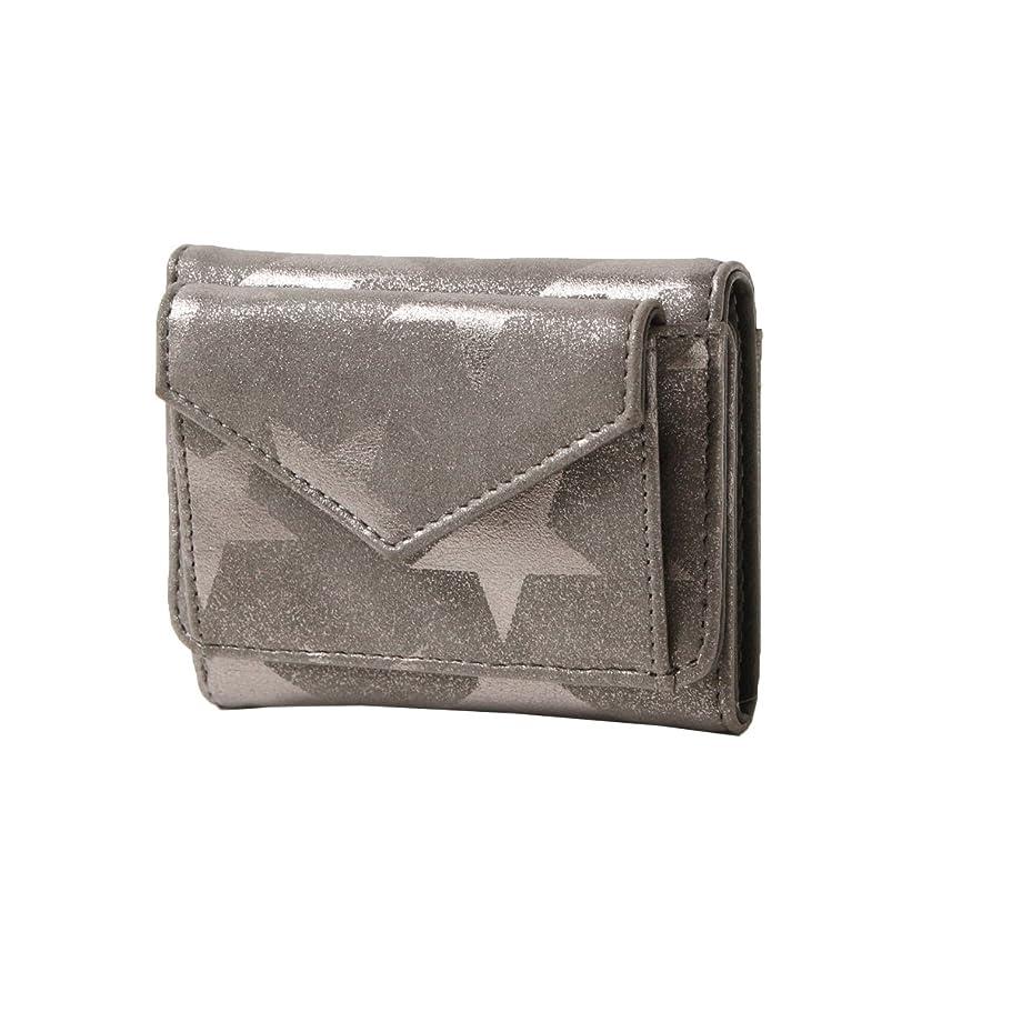 構造遺棄された滑るJOKnet ミニウォレット レディース 財布 3つ折り 三つ折り ミニ財布 スター柄 星 薄型 小さい財布 サイフ