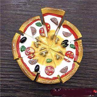Ixora Pizza Fridge Magnet (Yellow, White, Red and Green)