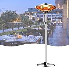 calefactor electrico Calentador 3000W Patio de jardín eléctrico de pie libre de 3000W, 3 configuraciones de calor, protección contra sobrecalentamiento y punta, o partido al aire libre de patio traser
