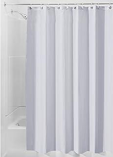 "iDesign Solid Fabric Bathroom Shower Curtain – 72"" x 72"", Cornflower Blue"