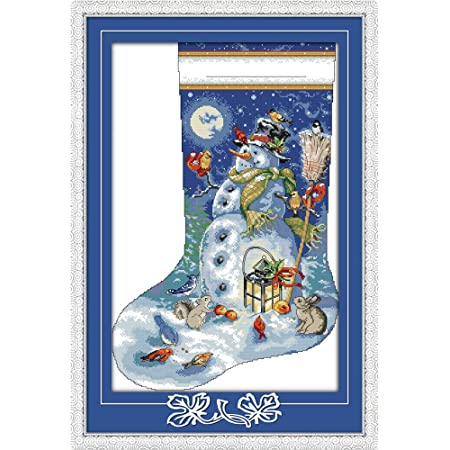 Tea time 2 36/×44CM Joy Sunday Cross Stitch Kit 14CT Stamped Embroidery Kits Precise Printed Needlework