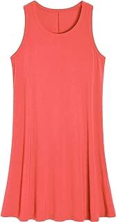 Latuza Women's Sleeveless Nightgown Scoop Neck Sleep Tank Dress