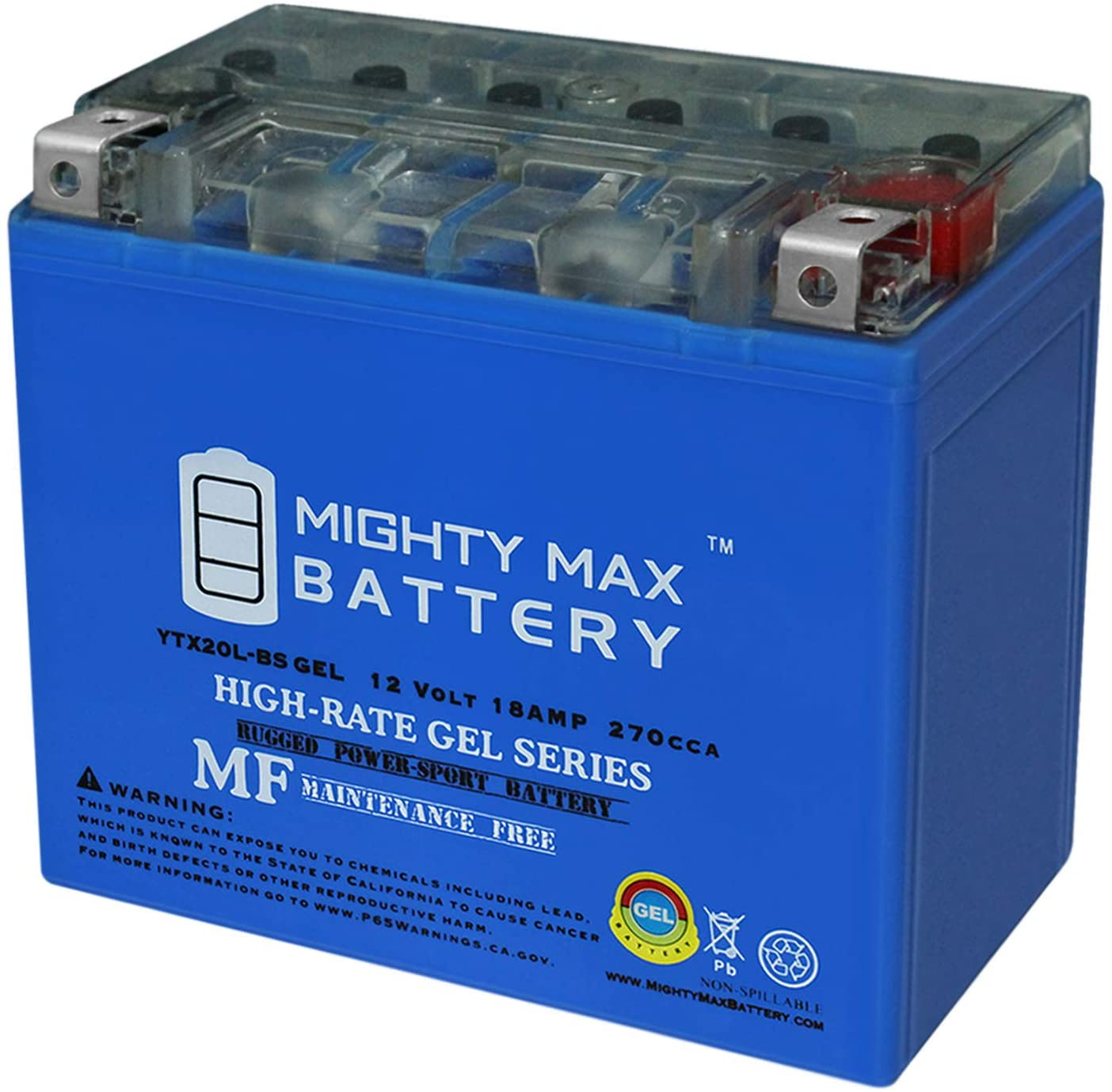 Mighty Max Battery YTX20L-BS San Jose Mall Gel 18AH All SeaDoo Clearance SALE Limited time 12V for