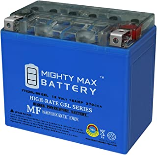 Mighty Max Battery YTX20L-BS Gel 12V 18AH Battery for Triumph Rocket 3 2003-2009 Brand Product