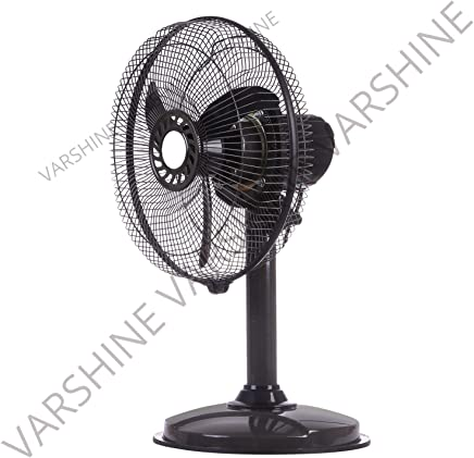 Varshine HAPPY HOME || Laurels || Mini Pedestal Fan || ISI Approved Copper Motor || 1 Year Warranty || Sweep- 300 MM, 12 Inches,METAL BODY GREY