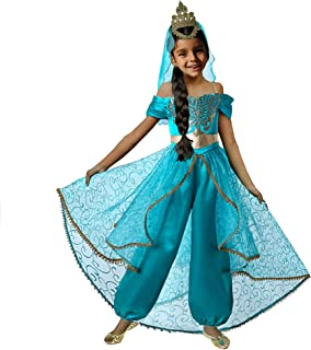 Pettigirl Niña Disfraz de Princesa árabe Viste con Velo de Corona