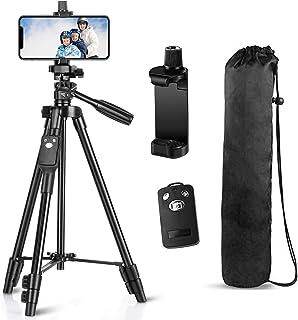 Tripod, 50 Inch Aluminum Tripod, Video Tripod for Cellphone, Camera, Universal Tripod with Wireless Remote, Compatible wit...