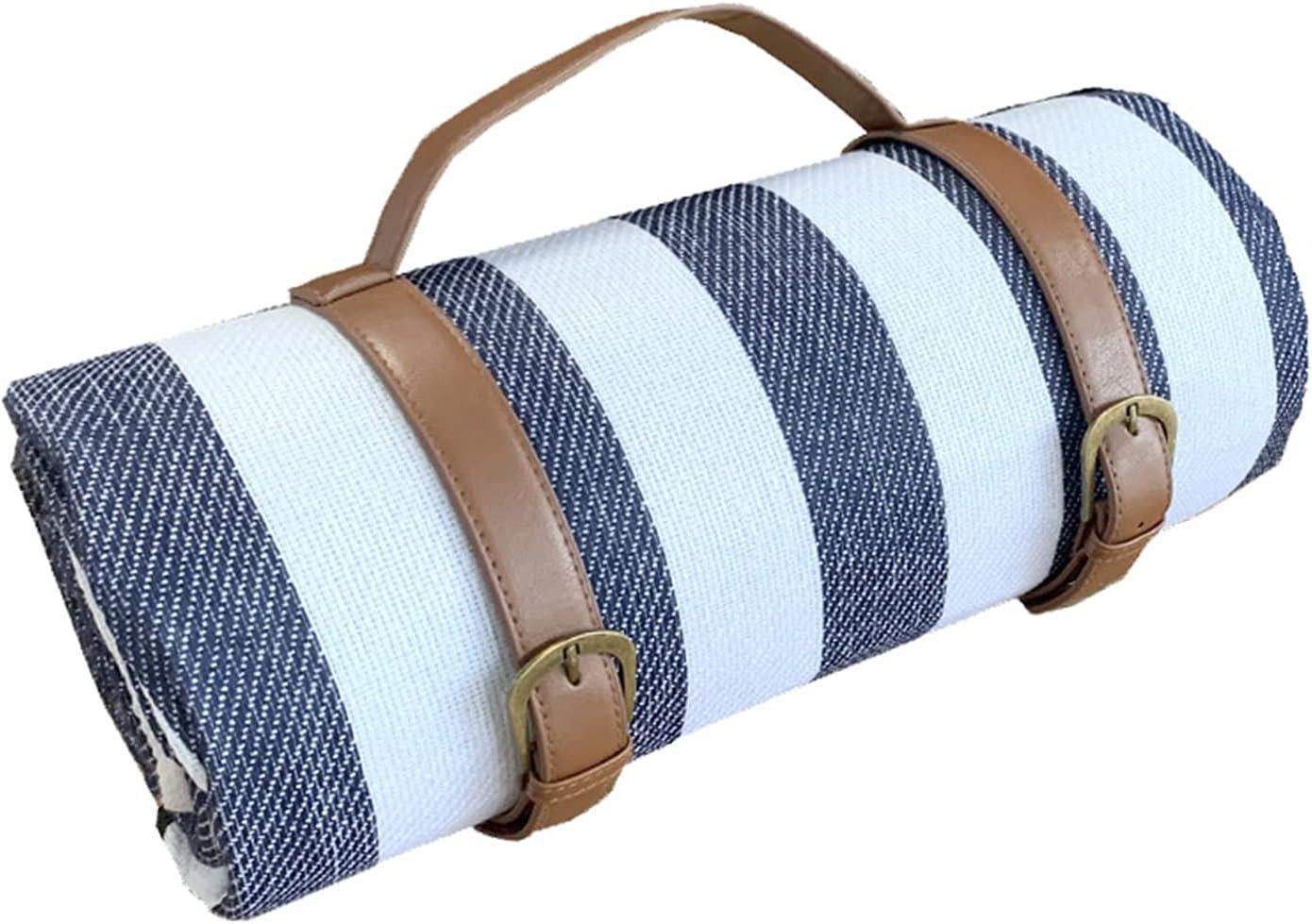 cheap yangmeng Waterproof Picnic Blanket Plaid Folding Gorgeous Printing Campi