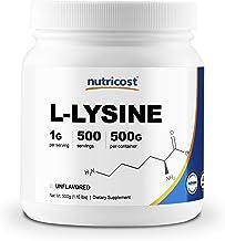 Nutricost L-Lysine Powder 500 Grams - Pure L-Lysine, Non-GMO, Gluten Free
