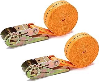Correia de amarração com catraca ajustável, correia de carga de amarração resistente e resistente para transporte de carg...