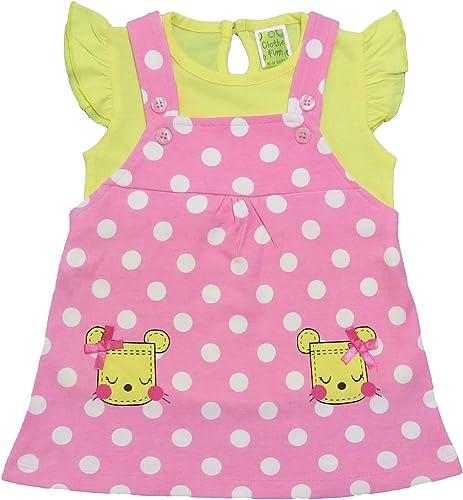 Clothe Funn Baby Girls' Pinafore Knee Length Dress