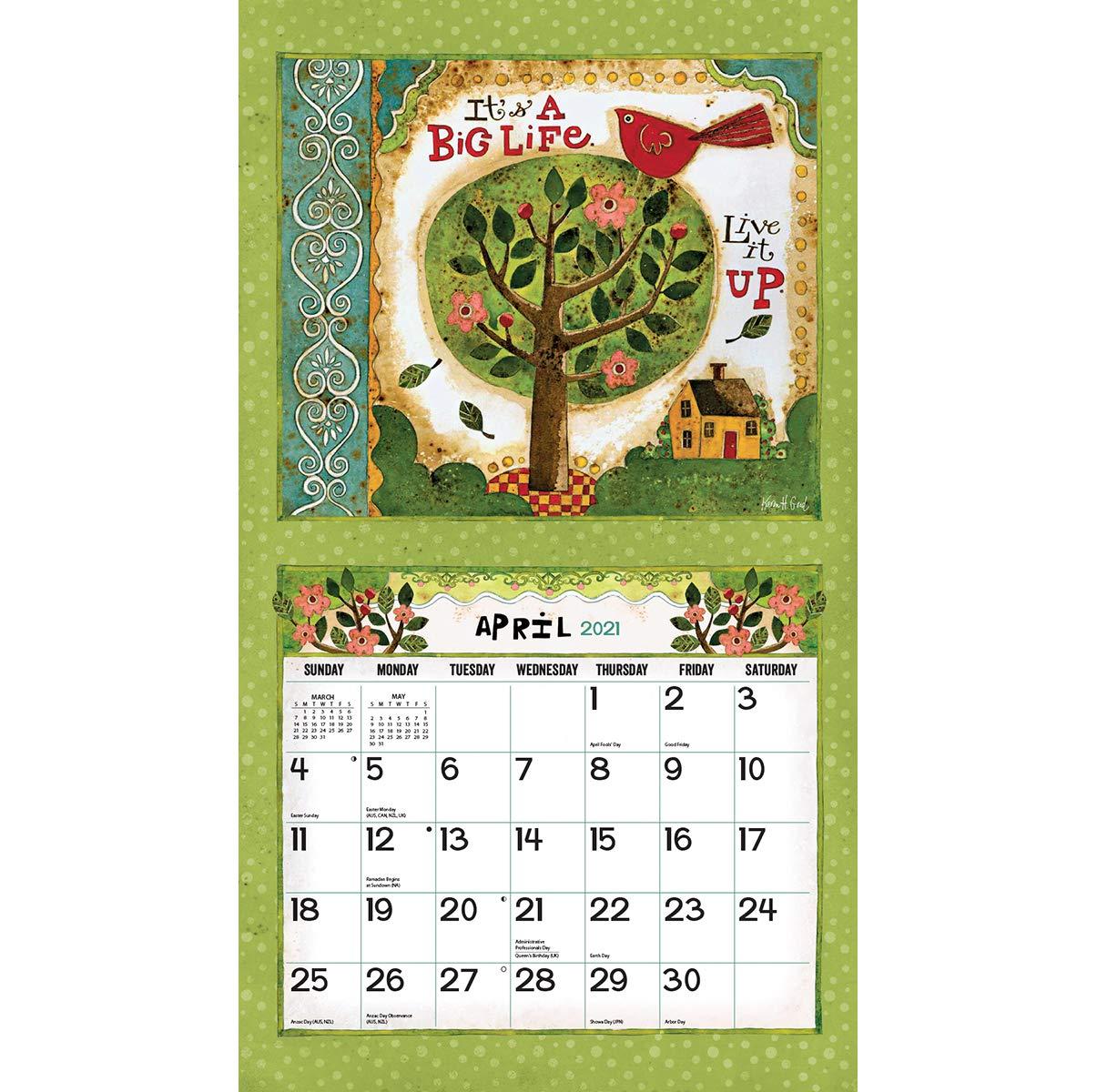 Fiu Calendar 2022.Lang Simple Life 2021 Wall Calendar 21991001879 Amazon Sg Office School Supplies