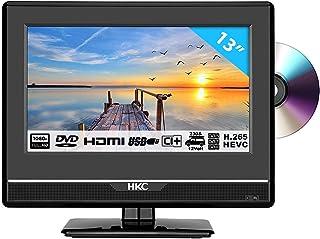 HKC 13M4C: Téléviseur LED de 33,8 cm (13 Pouces) avec Lecteur de DVD (Full HD, Tuner..