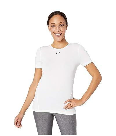 Nike Pro All Over Mesh Short Sleeve Top (White/Black) Women