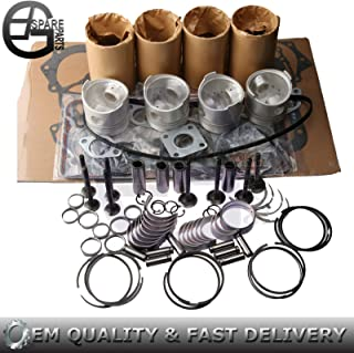 FidgetGear Rebuild Kit for Kubota V1902 Engine KX101 151 Piston Ring Gasket Bearing Set