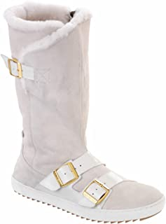 Women's Danbury Shearling Lined Boot White Suede/Patent Leather