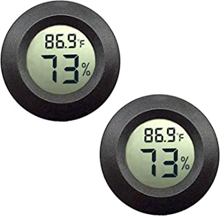 JEDEW 2-Pack Mini Hygrometer Thermometer Digital LCD Monitor Indoor Outdoor Humidity..