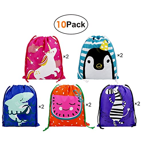 Party Bags Kids Birthday Favours Gift 10 Pack Ideas Candy Drawstring