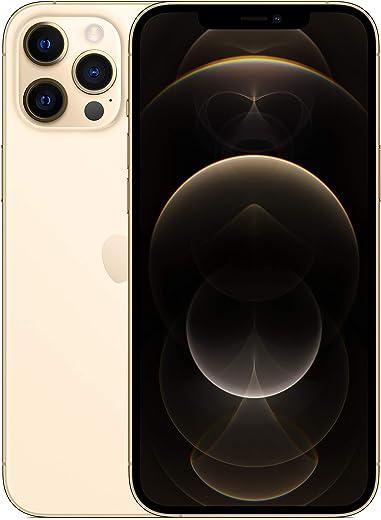 جوال ايفون 12 برو ماكس الجديد مع تطبيق فيس تايم بذاكرة 128 جيجا بلون ذهبي من ابل