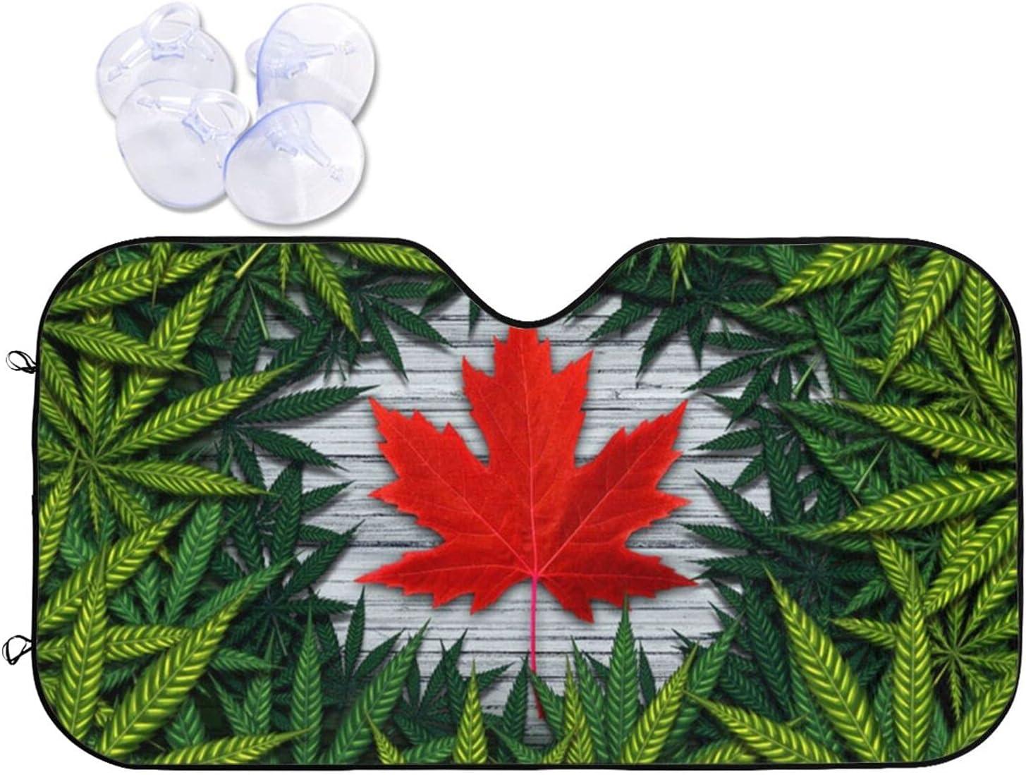 KXT Windshield Sun Shade Marijuana The in Cannabis Gifts Foldab Cheap sale Canada